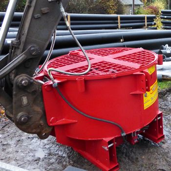 Excavator Mounted Concrete Mixers